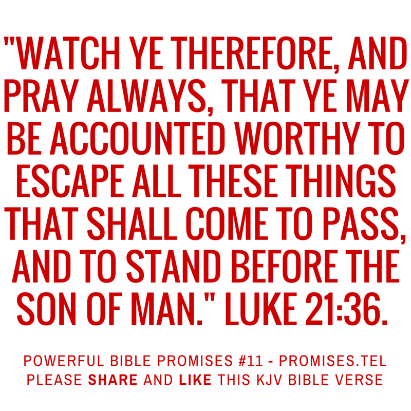 Luke 21:36. KJV Bible. Powerful Bible Promises 11.