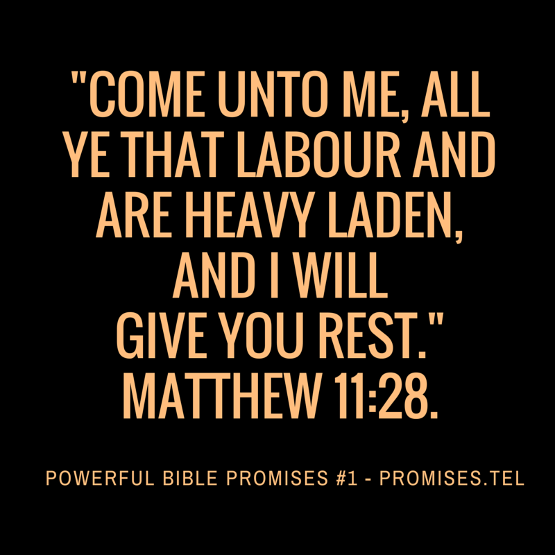 Powerful Bible Promises 1. From Powerful Bible Promises compiled by Robert Woeger.