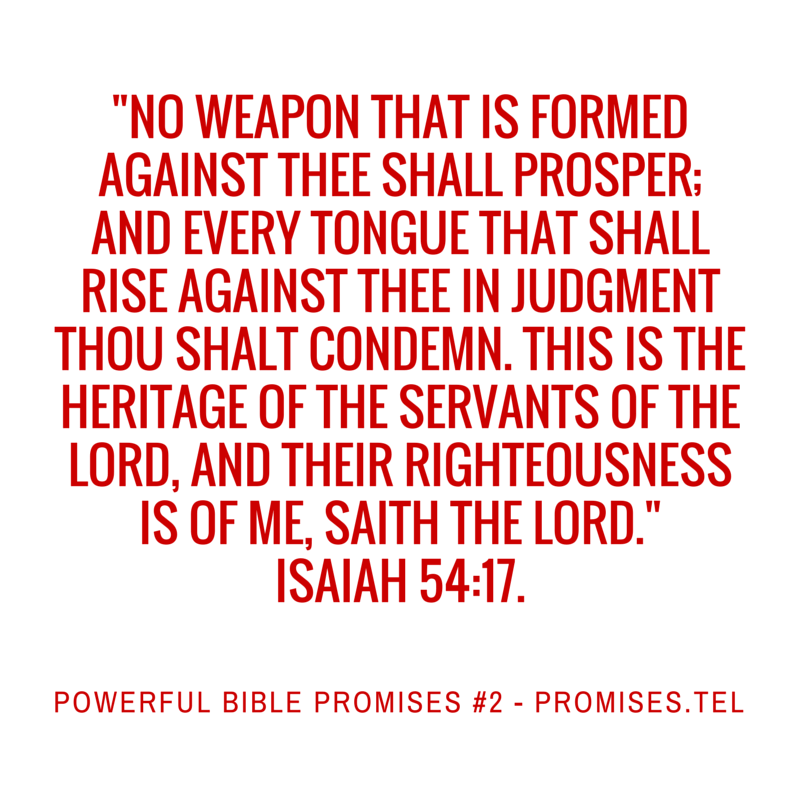 Powerful Bible Promises 2. From Powerful Bible Promises compiled by Robert Woeger.
