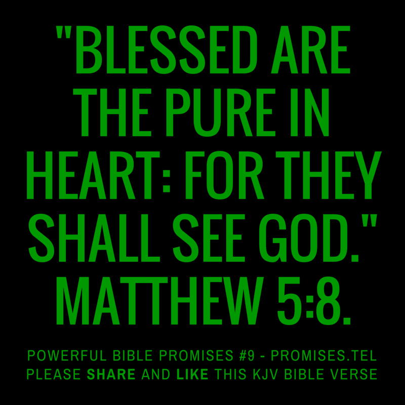 Matthew 5:8. KJV Bible. Powerful Bible Promises 9.